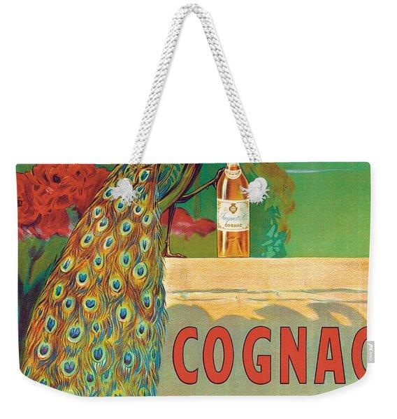Vintage Poster Advertising Cognac Weekender Tote Bag