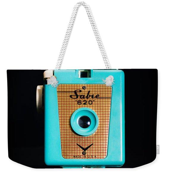 Vintage Sabre 620 Camera Weekender Tote Bag