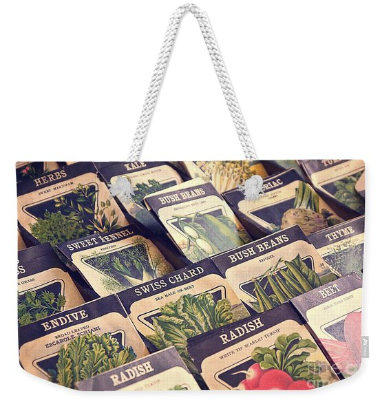 Vintage Seed Packages Weekender Tote Bag
