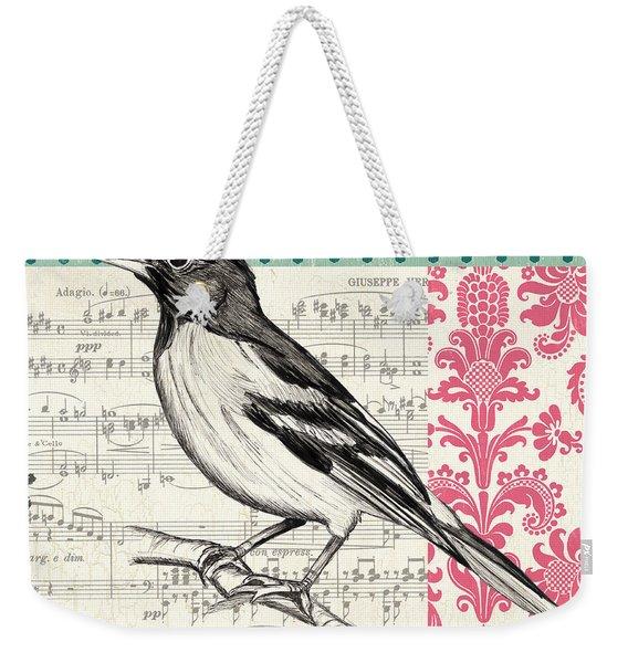 Vintage Songbird 2 Weekender Tote Bag