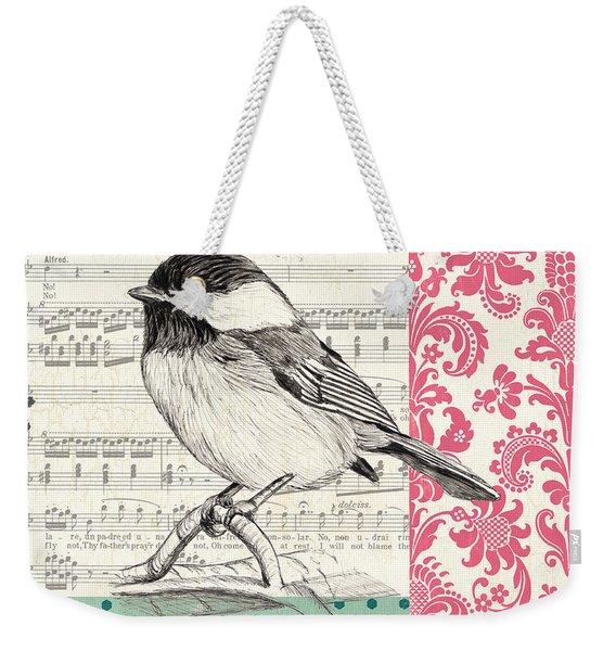 Vintage Songbird 3 Weekender Tote Bag
