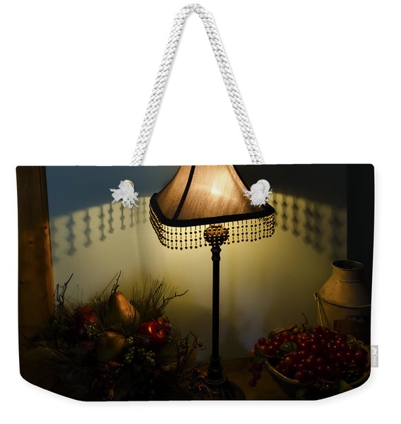 Vintage Still Life And Lamp Weekender Tote Bag