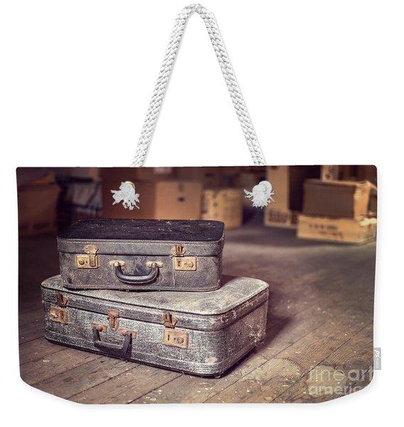 Vintage Suitcase Weekender Tote Bag