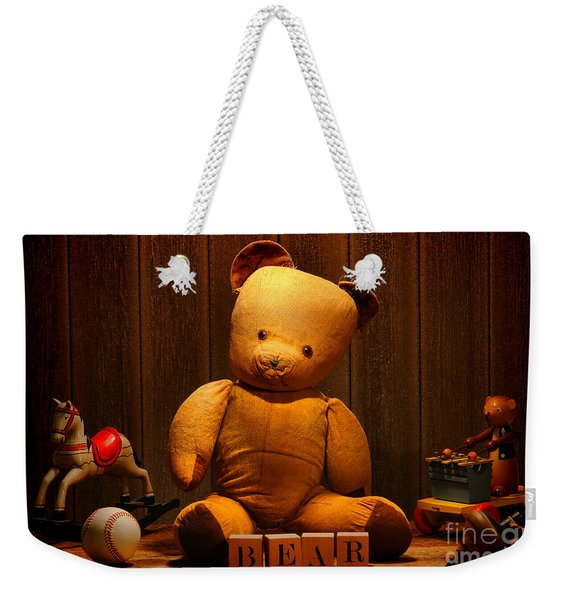 Vintage Teddy Bear And Toys Weekender Tote Bag