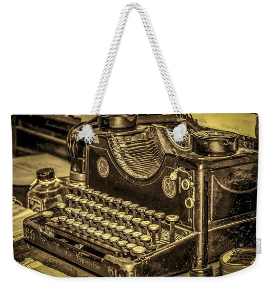 Weekender Tote Bag featuring the photograph Vintage Typewriter by Susan Leonard