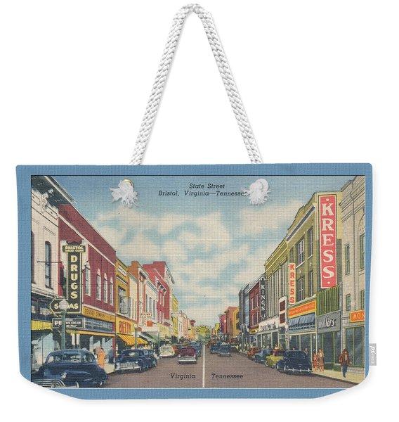 Vintage Va Tn Postcard Kress  Weekender Tote Bag