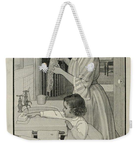 Vintage Victorian Soap Advert Weekender Tote Bag