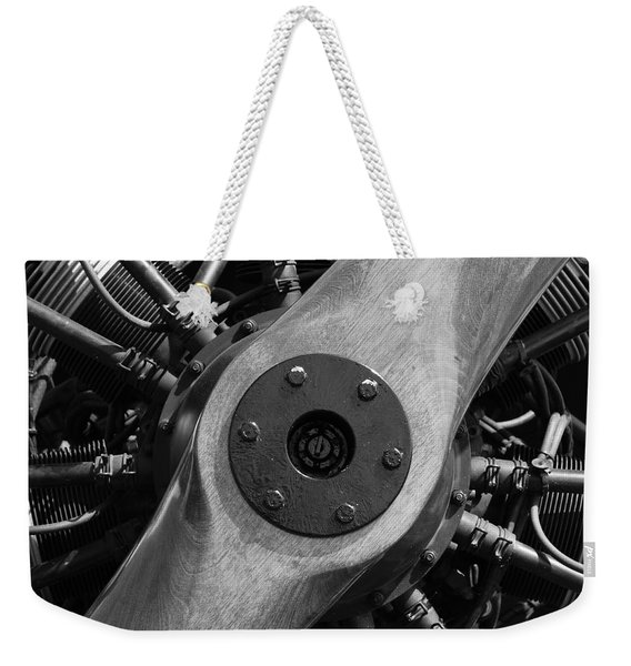 Vintage Wood Propeller - 7d15828 - Square - Black And White Weekender Tote Bag