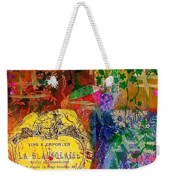 Vintner Label Weekender Tote Bag