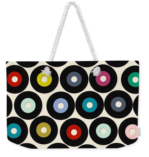 Vinyl Weekender Tote Bag