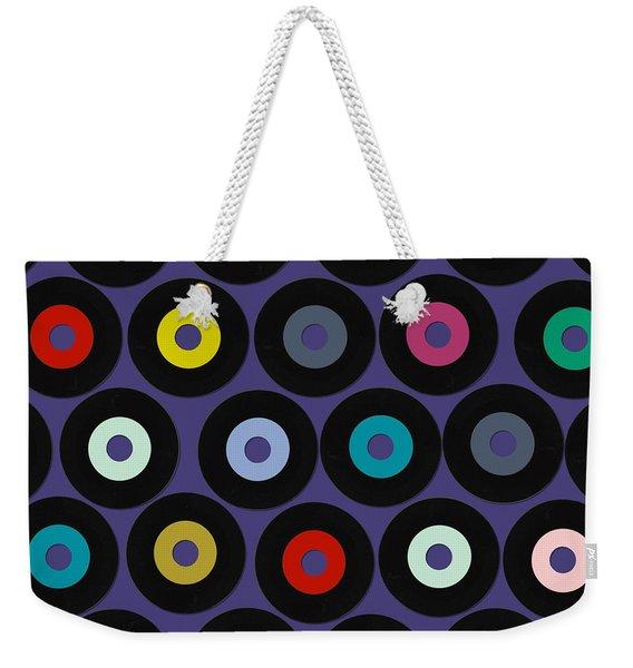 Vinyl Violet Weekender Tote Bag