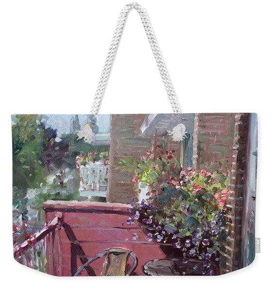 Viola's Balcony Weekender Tote Bag