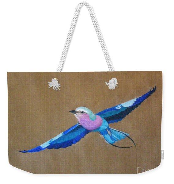 Violet-breasted Roller Bird II Weekender Tote Bag