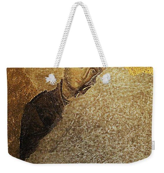 Virgin Mary-detail Of Deesis Mosaic  Hagia Sophia-day Of Judgement Weekender Tote Bag