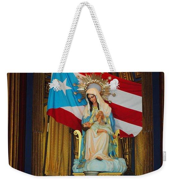 Virgin Mary In Church Weekender Tote Bag
