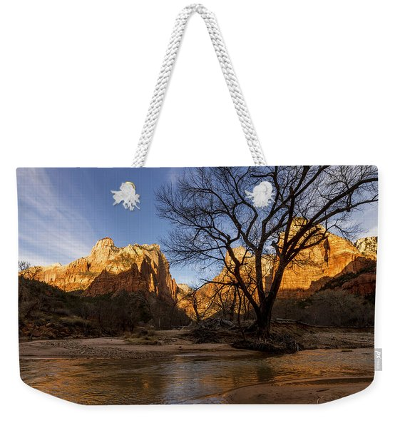Virgin Reflection Weekender Tote Bag