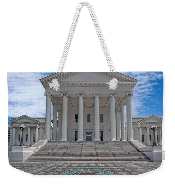 Weekender Tote Bag featuring the photograph Virginia Capitol by Jemmy Archer