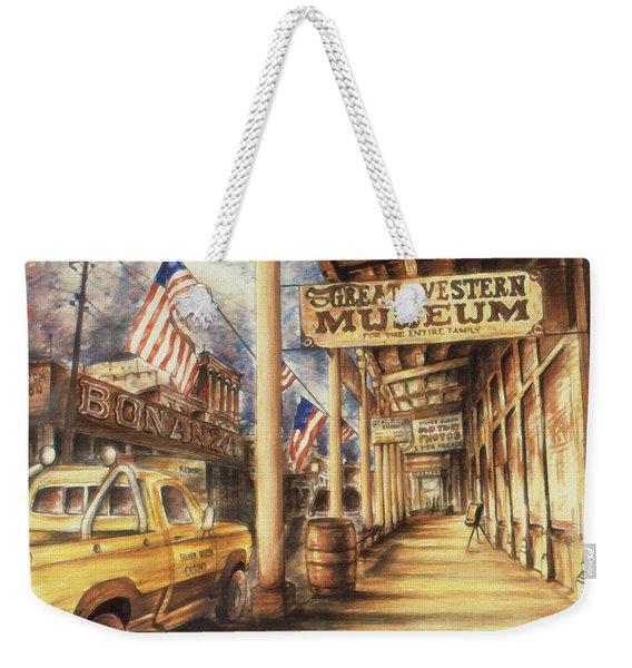 Virginia City Nevada - Western Art Painting Weekender Tote Bag