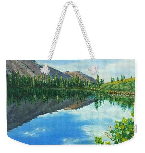 Virginia Lake Weekender Tote Bag