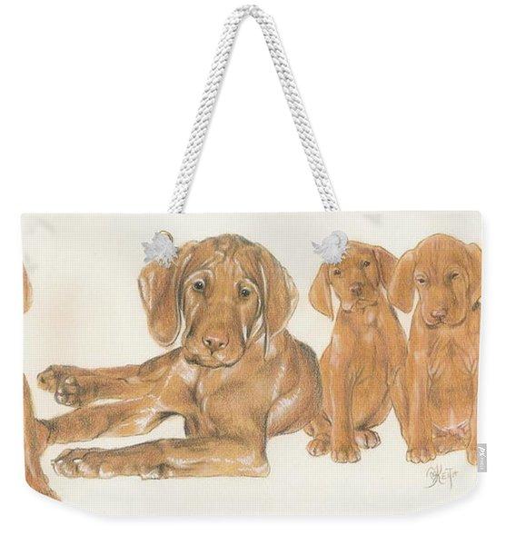 Vizsla Puppies Weekender Tote Bag