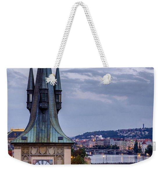 Vltava River In Prague Weekender Tote Bag