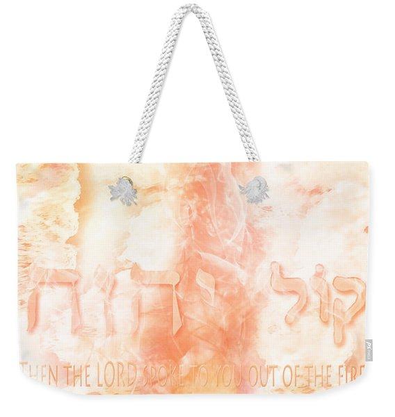 Voice Of Fire Weekender Tote Bag