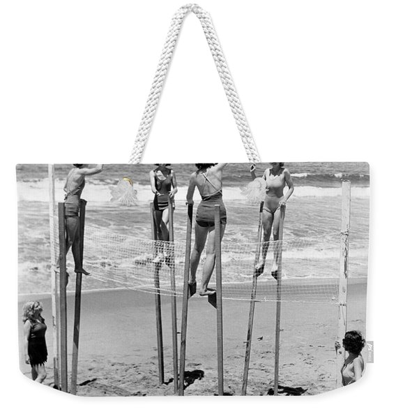 Volleyball On Stilts Weekender Tote Bag