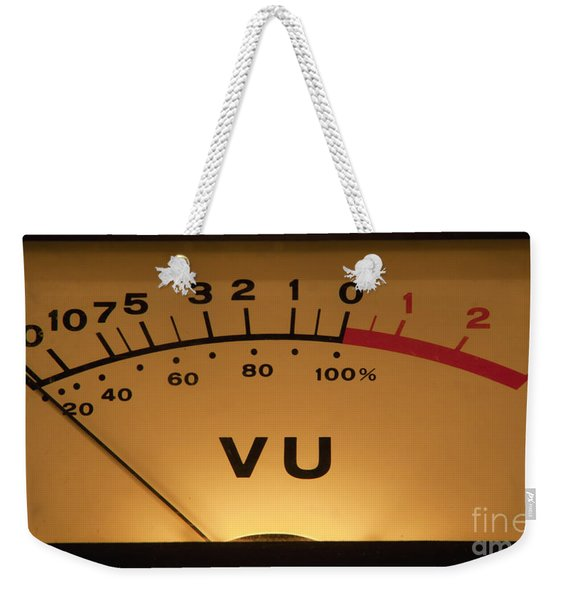 Vu Meter Illuminated Weekender Tote Bag