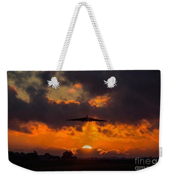 Vulcan Sunset Scramble  Weekender Tote Bag
