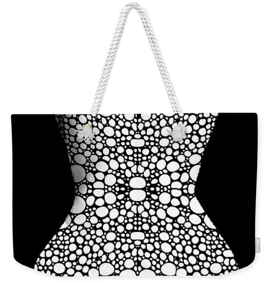 Nude Art - Vulnerable - Black And White By Sharon Cummings Weekender Tote Bag
