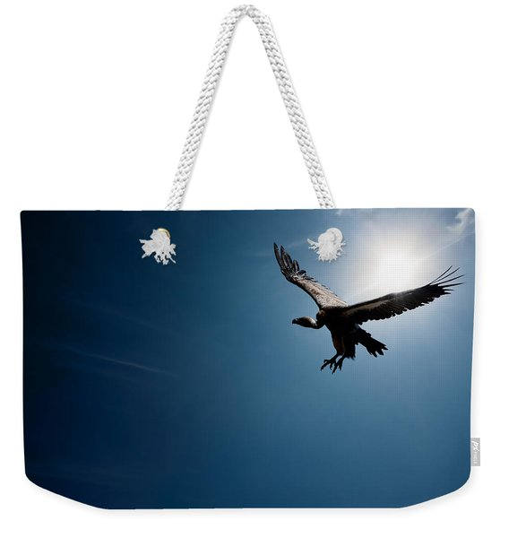Vulture Flying In Front Of The Sun Weekender Tote Bag