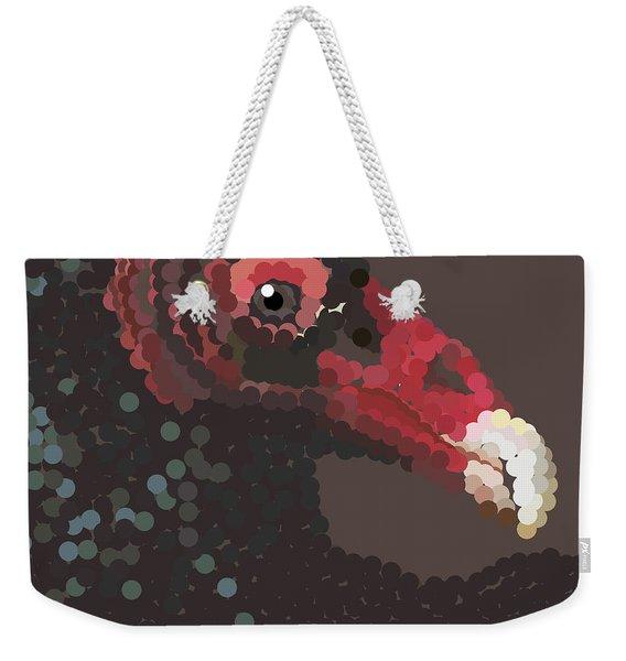 Vulture Pixel Pointillized Weekender Tote Bag