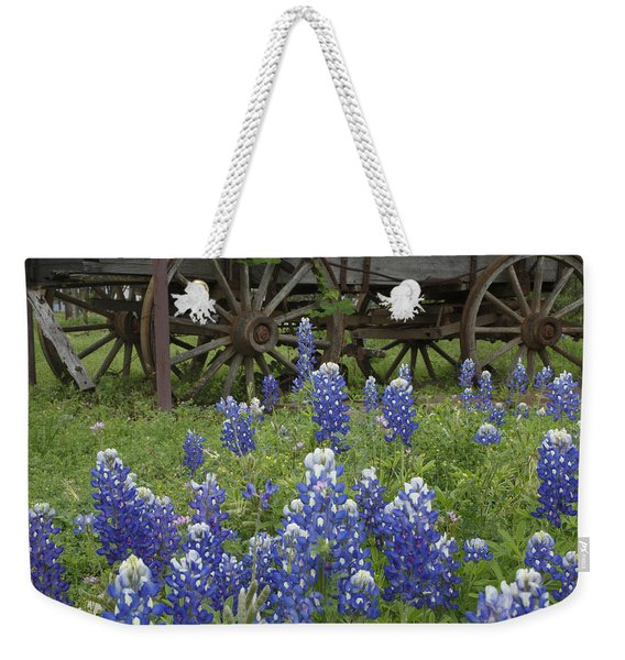 Wagon With Bluebonnets Weekender Tote Bag