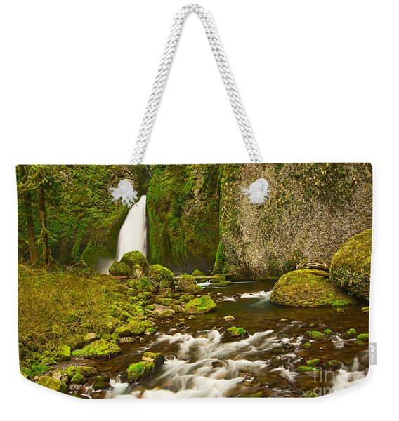 Wahclella Falls In The Columbia River Gorge In Oregon. Weekender Tote Bag