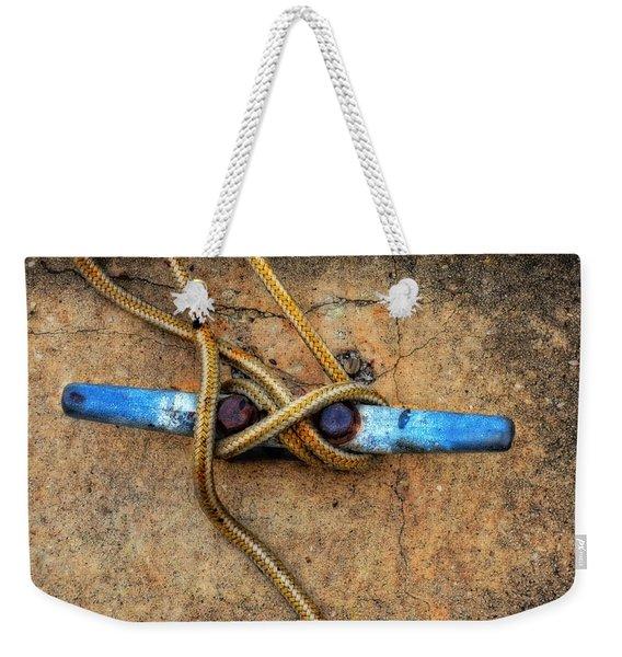 Waiting - Boat Tie Cleat By Sharon Cummings Weekender Tote Bag