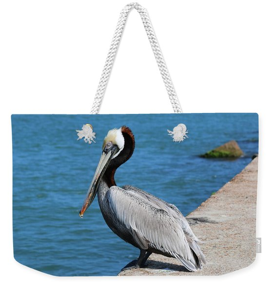Waiting For A Fish  Weekender Tote Bag