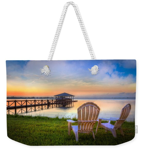 Waiting For Otis Weekender Tote Bag