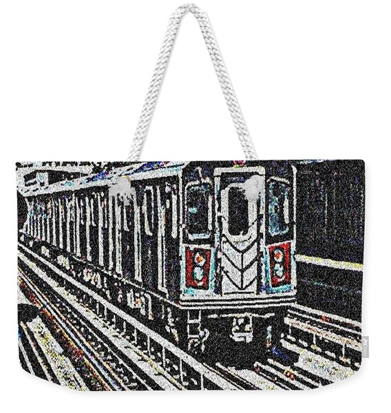 Waiting For The Sardine Can Weekender Tote Bag