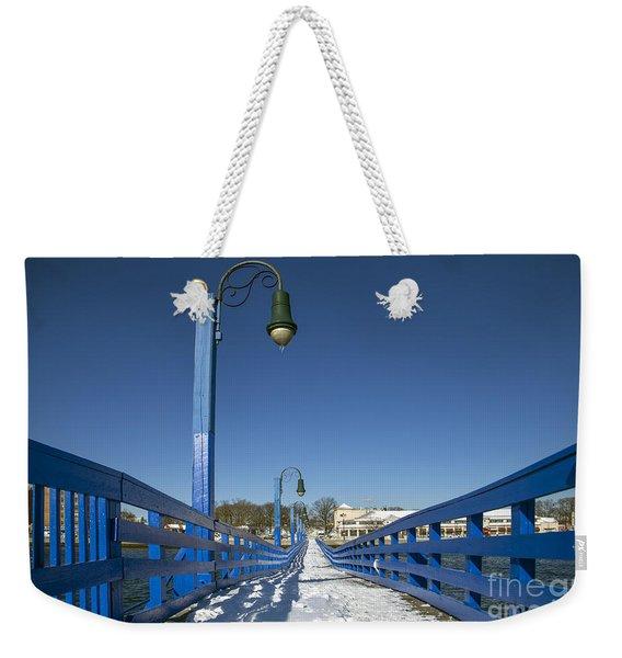 Walk In The Blue Light Weekender Tote Bag