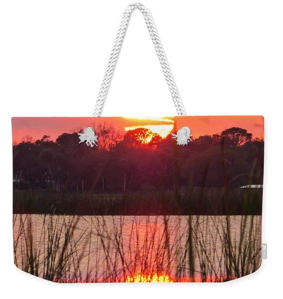 Walk In The Water Sunset Weekender Tote Bag