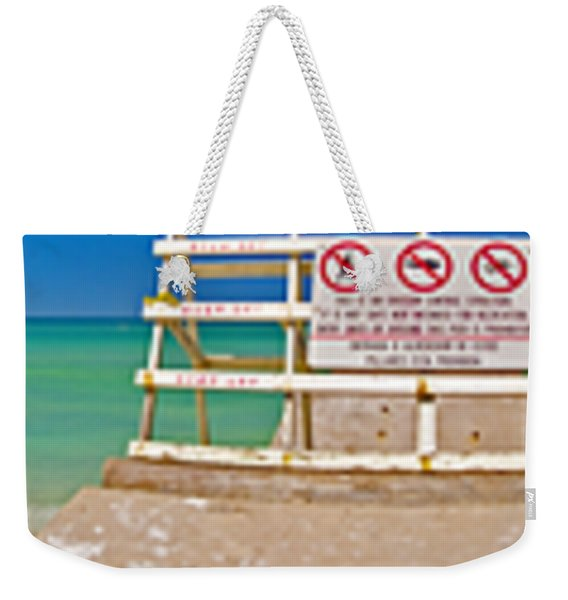 Walk Into Water Weekender Tote Bag