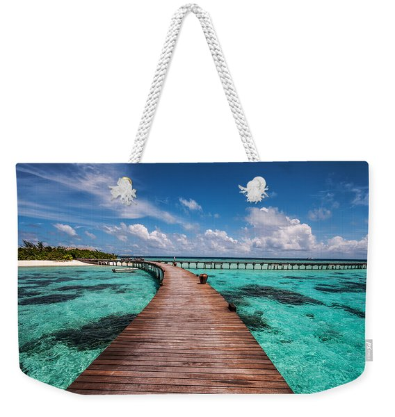 Walk Over The Water Weekender Tote Bag