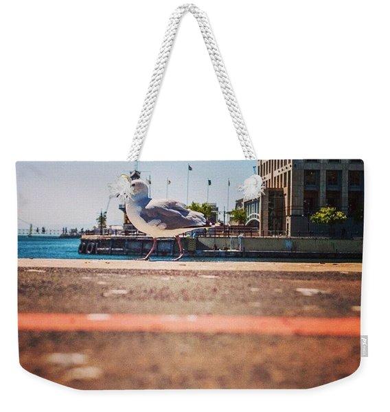 Walk The Line Weekender Tote Bag