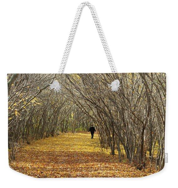 Walking A Golden Road Weekender Tote Bag