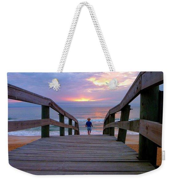 Walking Into Paradise Weekender Tote Bag