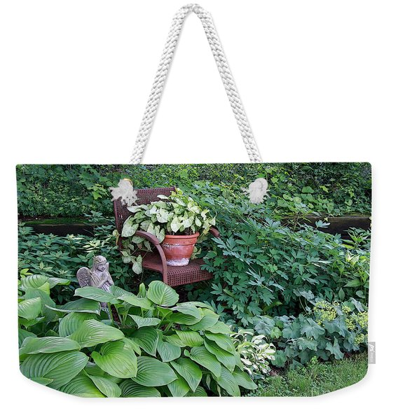 Wall Of Green Weekender Tote Bag