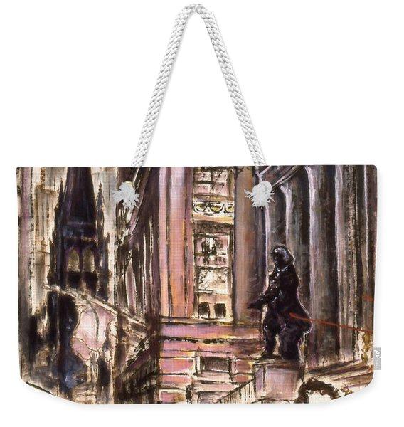 New York Wall Street - Fine Art Painting Weekender Tote Bag