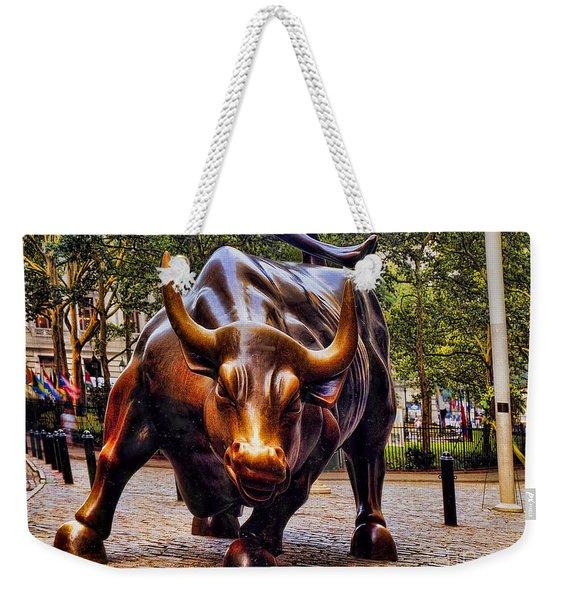 Wall Street Bull Weekender Tote Bag