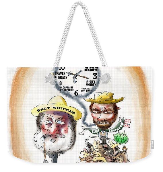 Walt Whitman Meets Clint Eastwood Weekender Tote Bag