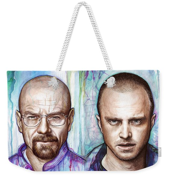 Walter And Jesse - Breaking Bad Weekender Tote Bag